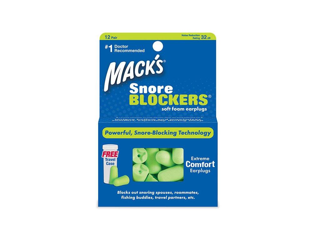 Macks Snore Blockers horkolás elleni füldugók Earplugs cz