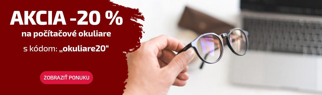 Akcia -20 % na okuliare