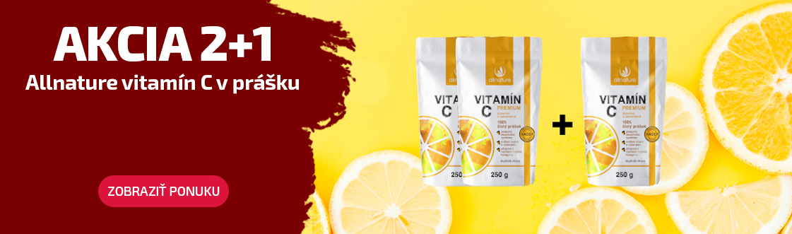 Allnature Vitamín C akcie 2+1