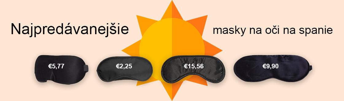Najpredávanejšie masky na oči na spanie