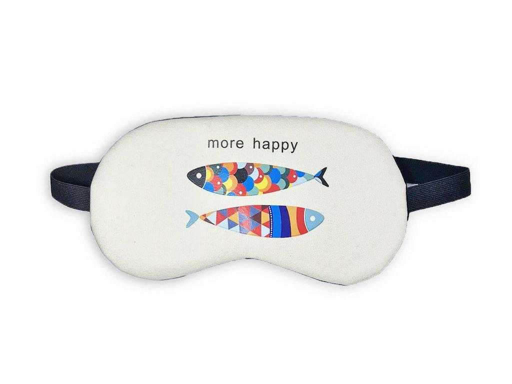 Maska na oči na spaní Ryby Béžová