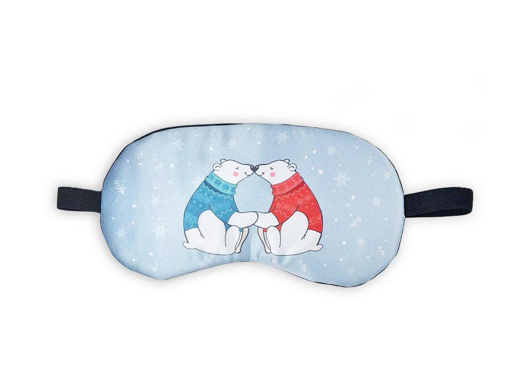 Maska na oči na spaní Medvědí láska
