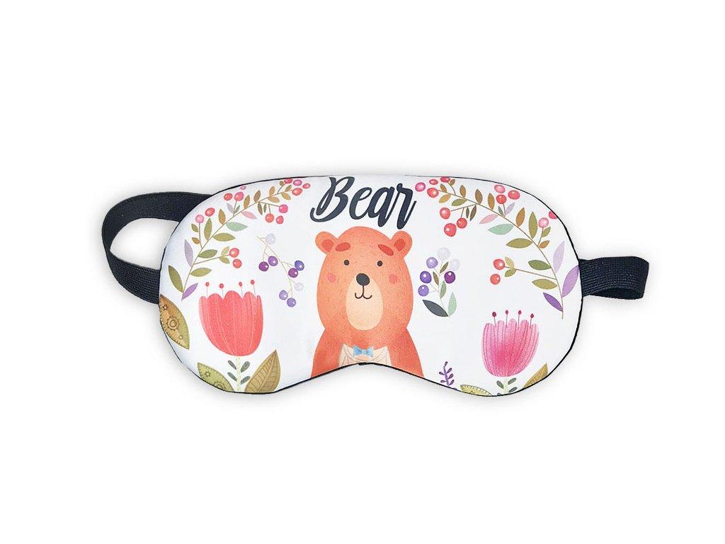 Maska na oči na spaní Medvěd