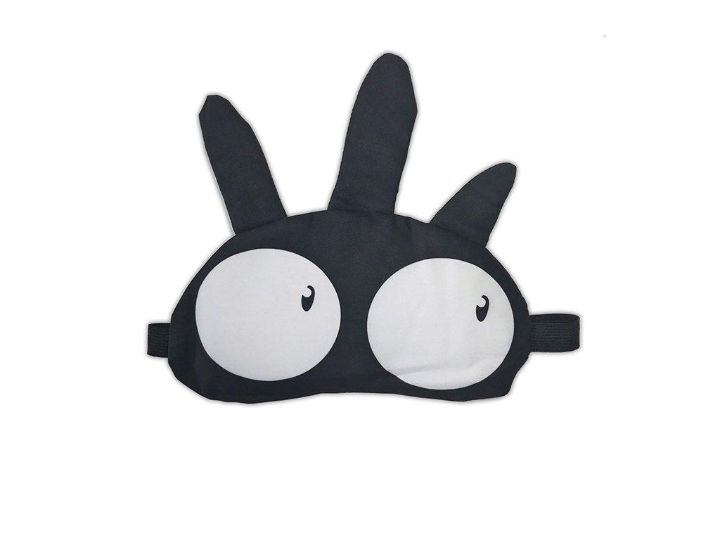 Maska na oči na spaní vykulený černá
