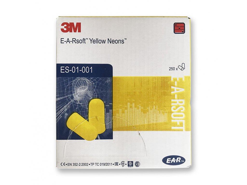 3m E A R špunty do uší žluto neonové 200 párů
