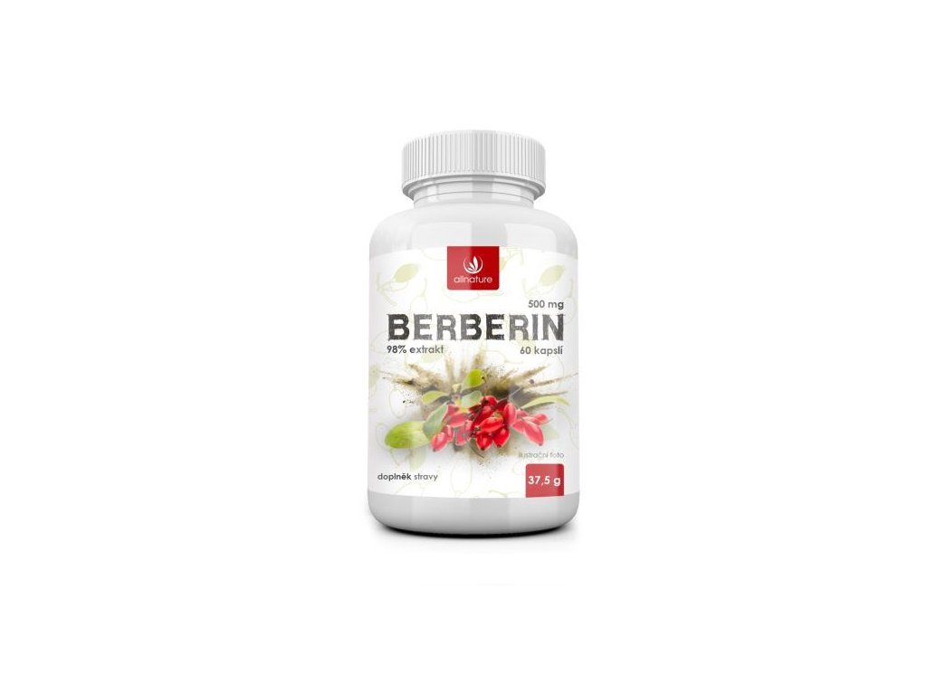 Allnature Berberín Extrakt 98% 500 mg 60 kapsulí