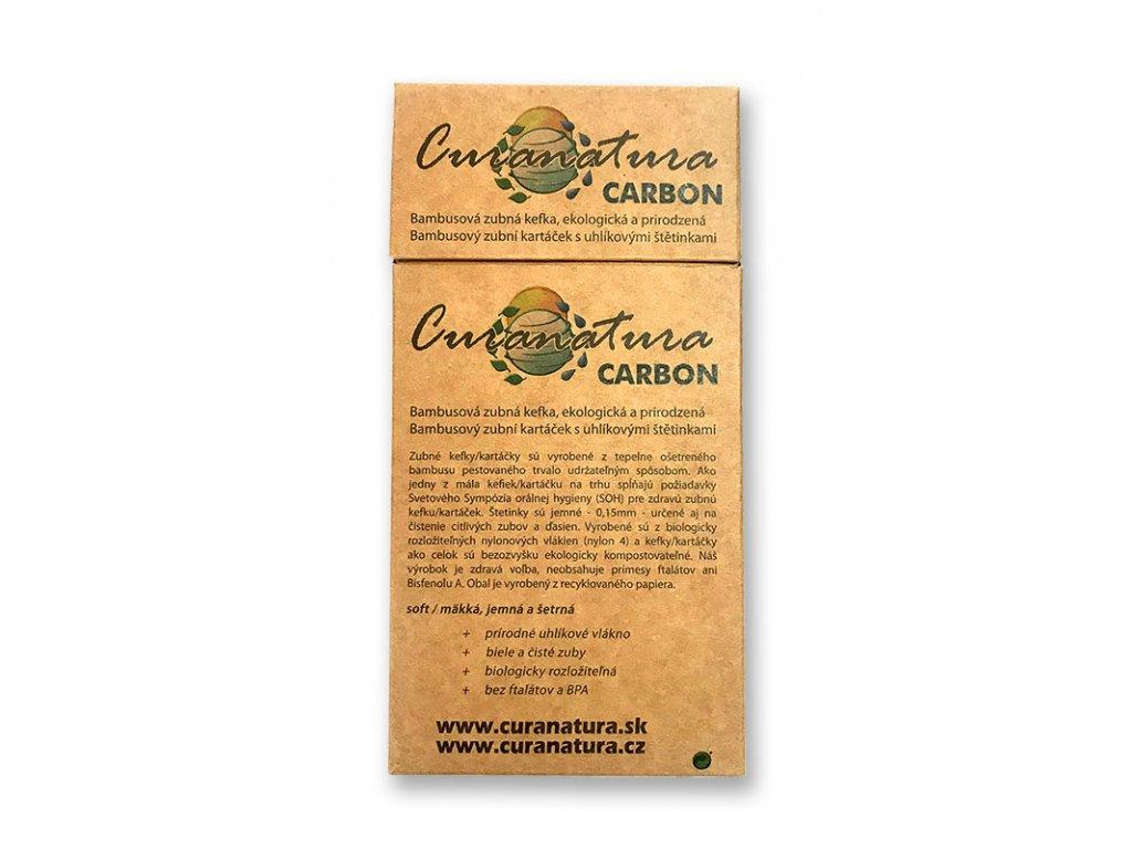 Curanatura Carbon dřevěný kartáček 12ks