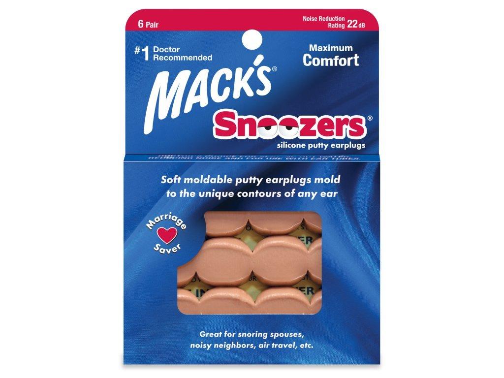 Mack's Snoozer silikonové špunty na spaní
