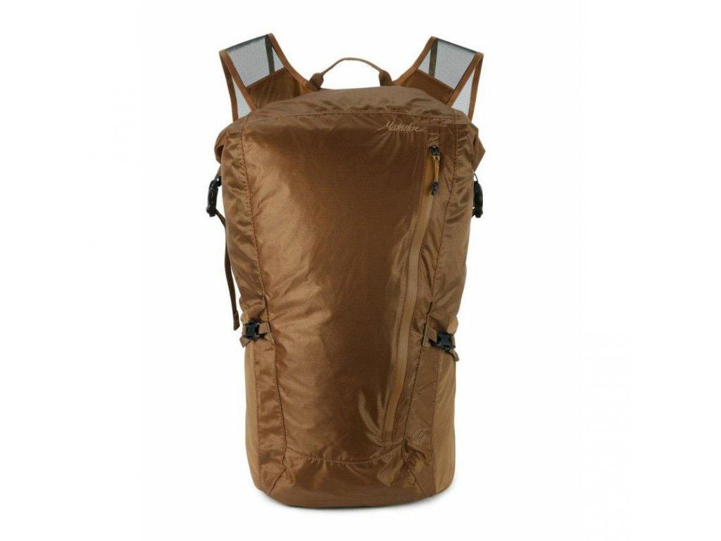 Skládací voděodolný kapesný batoh Matador Freerain 24 2.0 coyote ze předu