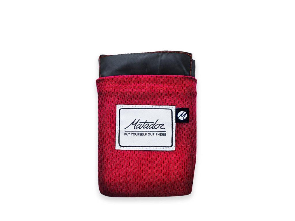 Matador kapesní deka Pocket Blanket červená