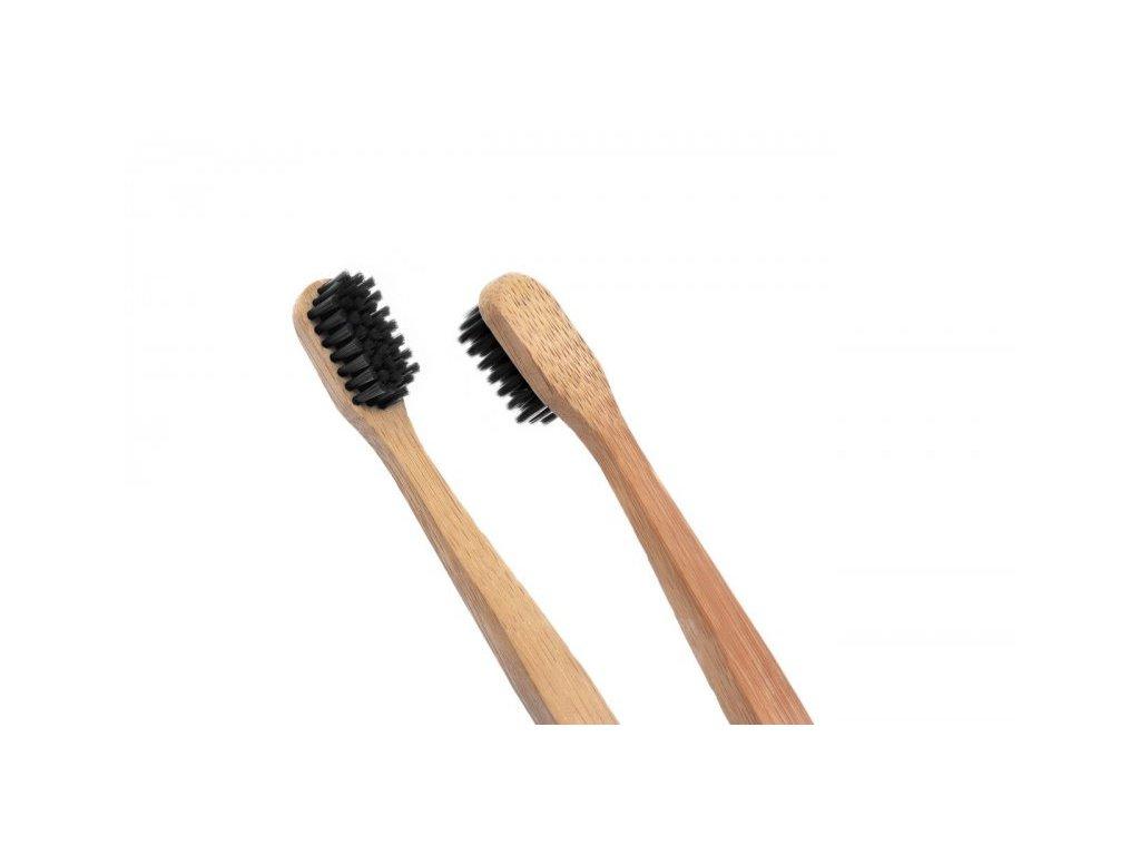 EcoHeart Bambusový kartáček na zuby (extra soft) černý detail 2