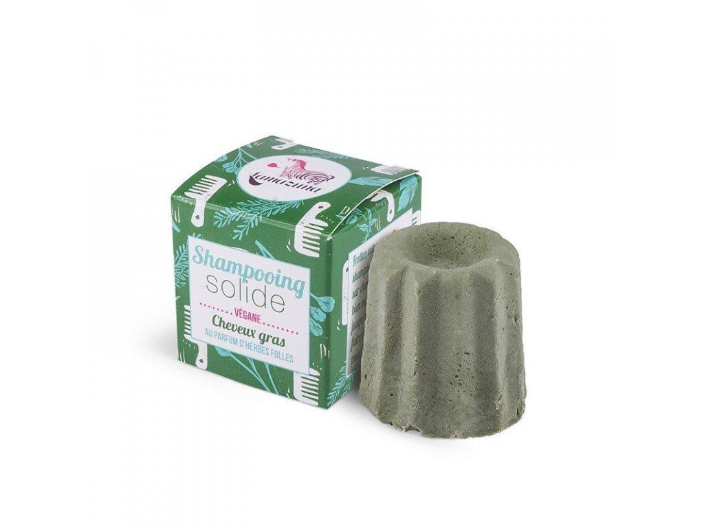 Lamazuna Tuhý šampon pro mastné vlasy divoká tráva (55 g)