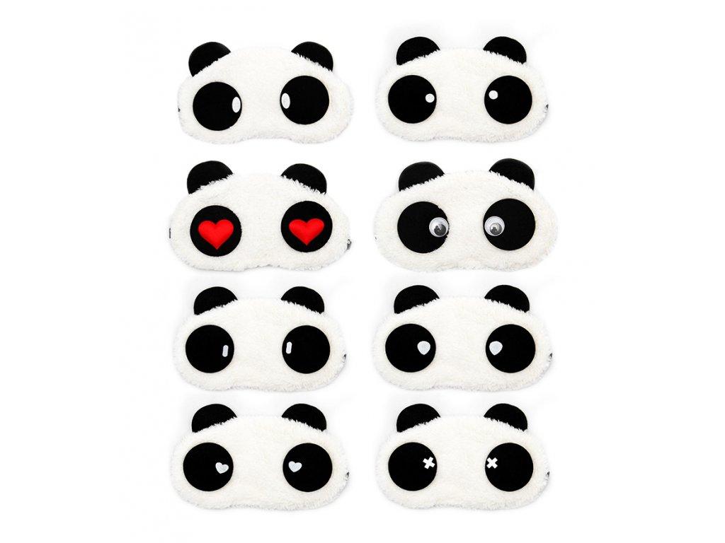 Maska na oči na spaní panda všechny