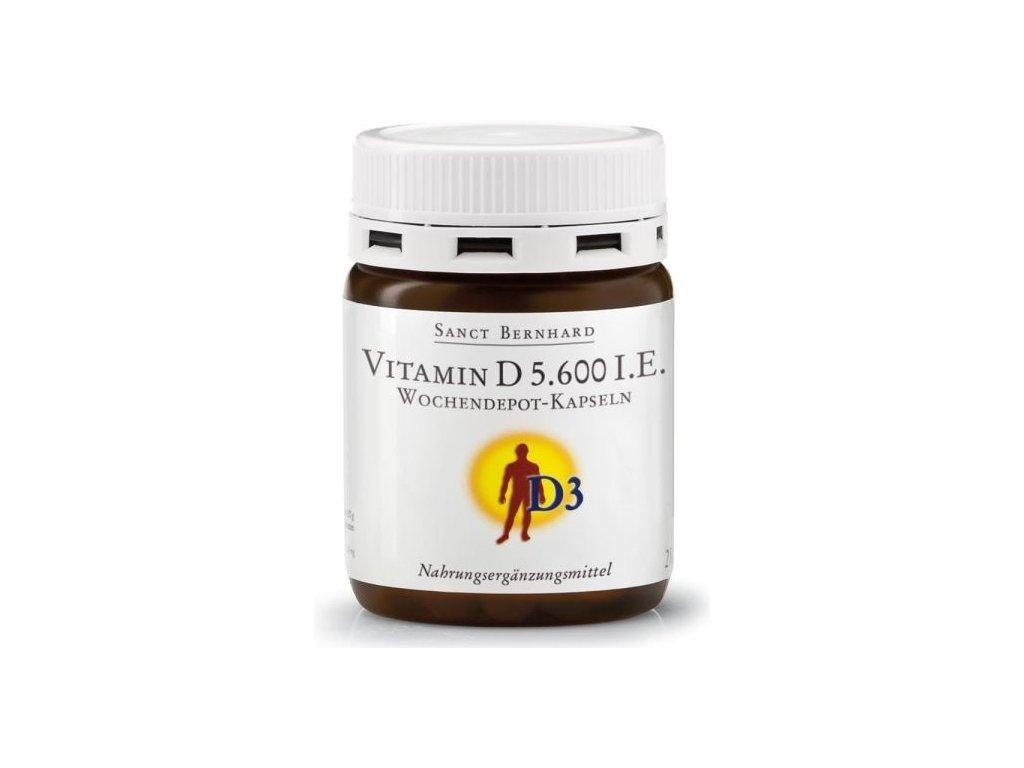 Sanct Bernhard Vitamin D 5600 IU postupné uvolňování 26 kapslí