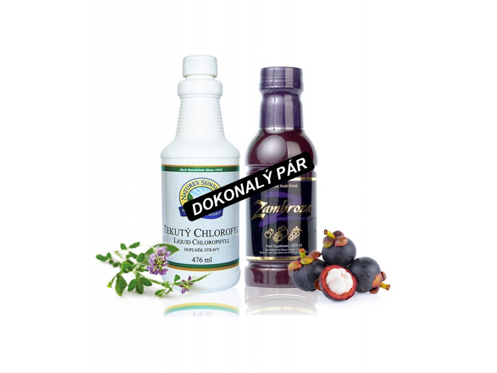 Tekutý chlorofyl a Zambroza Dokonalý pár