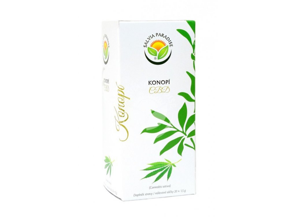 SalviaParadise Konopí CBD čaj 20 x 1,5g