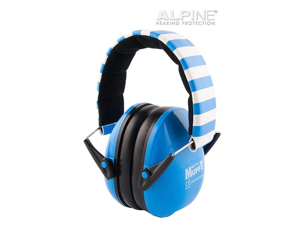 Alpine Muffy Modrá Chrániče sluchu pro děti sluchátka Earplugs cz