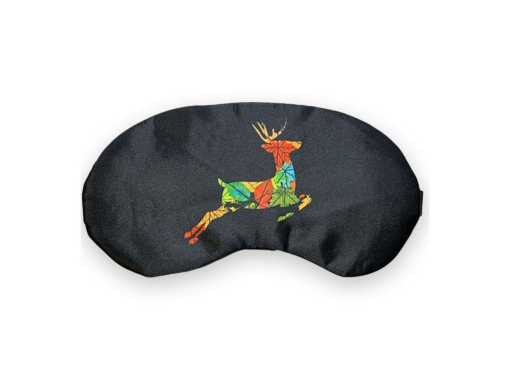 Maska na oči na spaní barevný jelen