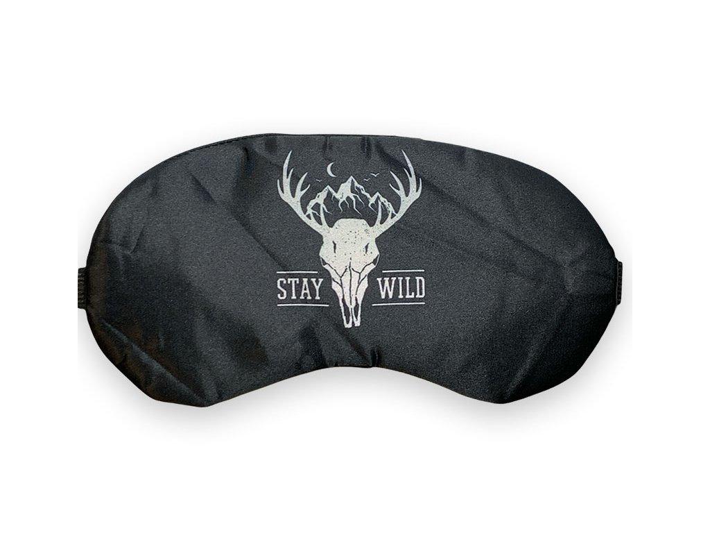 Maska na oči na spaní stay wild černá