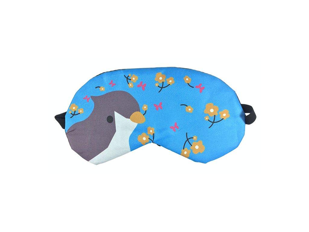 Maska na oči na spaní Ptáček