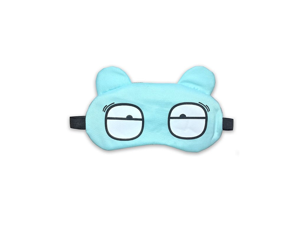 Dětská maska na oči na spaní Tyrkysová s chladící vložkou