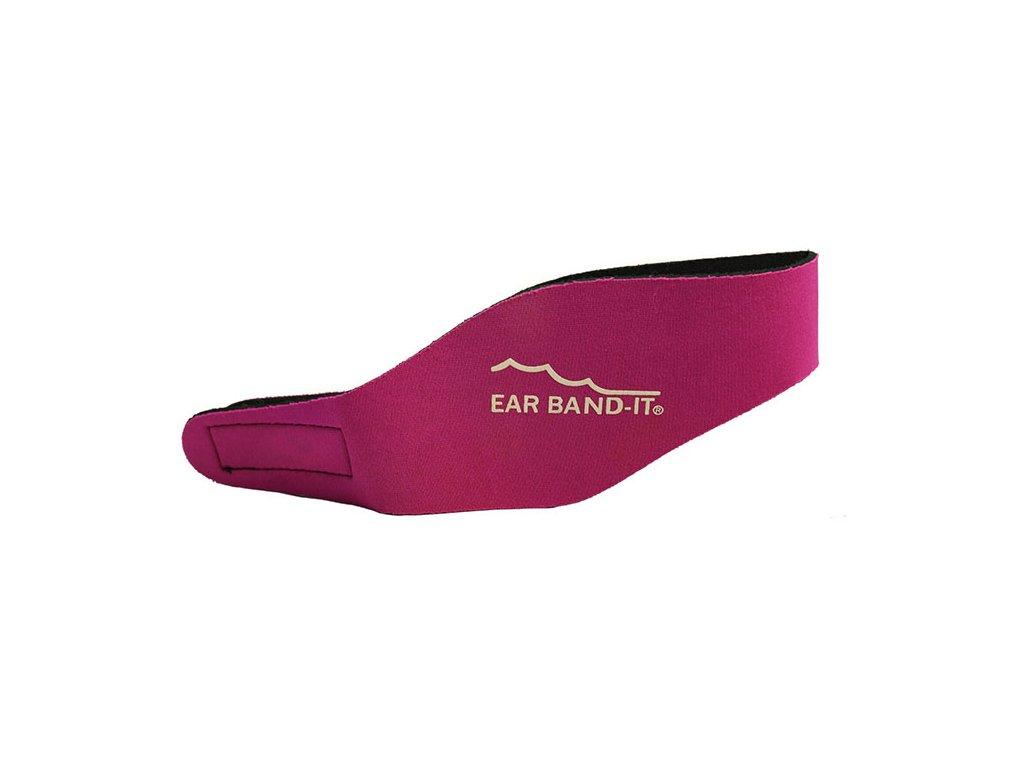 Ear Band It čelenka na uši na plavání Magenta Růžová