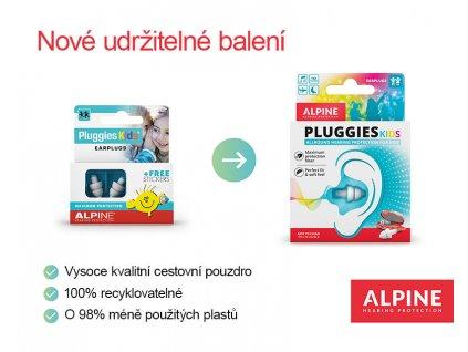 Alpine Pluggies Kids  Detské štuple do uší