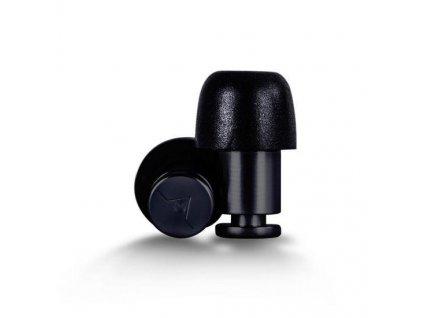 Kovové špunty do uší Isolate Aluminium černé
