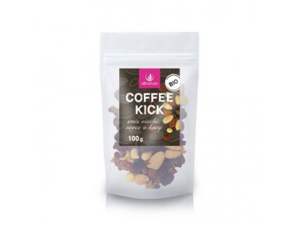 allnature coffee kick smes orechu ovoce a kavy bio 100 g