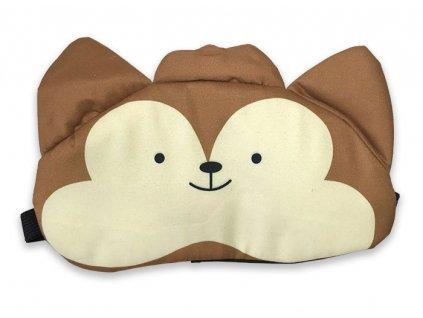 Maska na oči na spaní Medvědí obličej