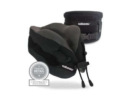 Cabeau Evolution Cool sbalitelný cestovní polštář z paměťové pěny červný