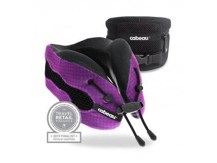 Cabeau Evolution Cool sbalitelný cestovní polštář z paměťové pěny Fialový