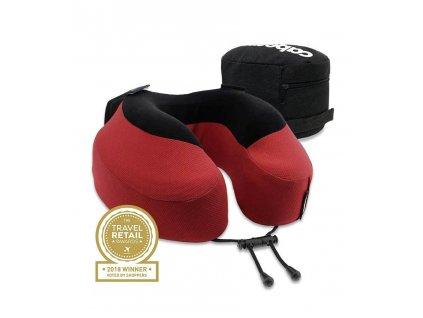 Cabeau Evolution S3 Cardinal cestovní polštář z paměťové pěny červený