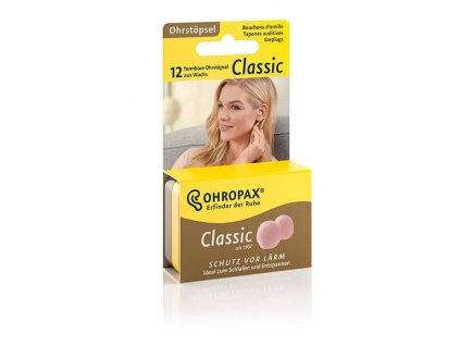 Ohropax Classic 6 párů voskové špunty do uší