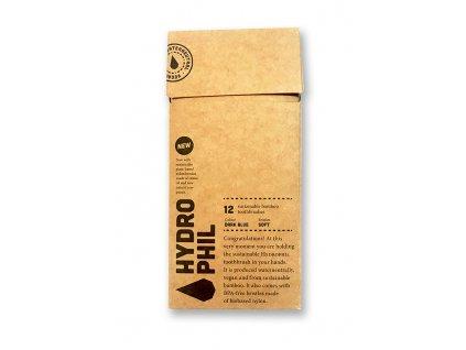 Hydrophil dřevěné kartáčky na zuby Soft Blue 12ks