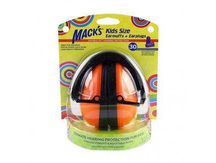 Dětské chrániče sluchu Mack's oranžové