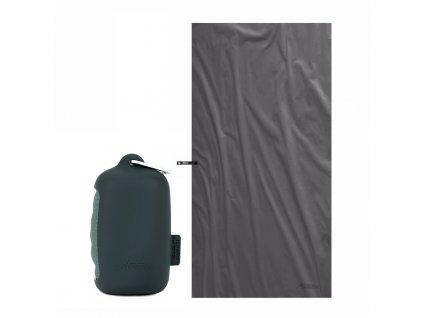 Rychlescnoucí ručník Matador NanoDry černý velký s pouzdrem