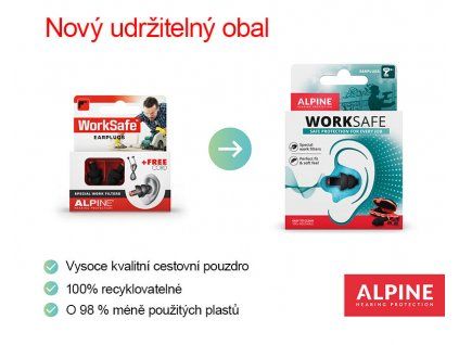 Alpine WorkSafe  Štuple do uší proti hluku
