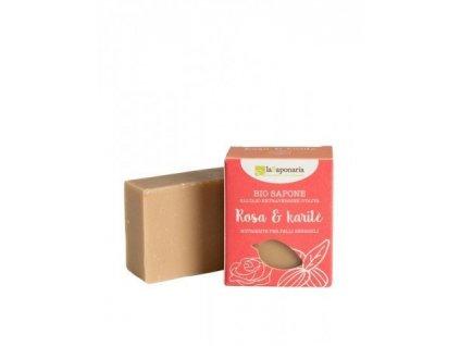 laSaponaria mýdlo růžový olej a bambucké máslo