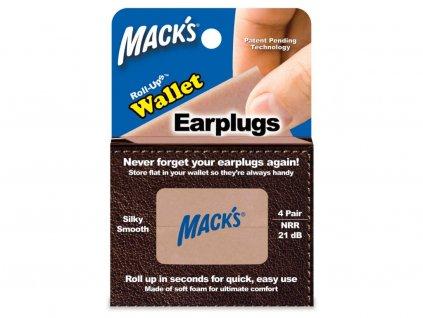 Mack's Rolovací špunty do uší do peněženky