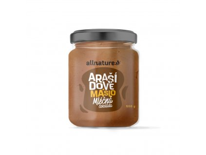 allnature arasidove maslo s mlecnou cokoladou 500 g