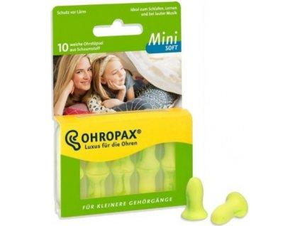 Ohropax Soft Mini zelené štíhlé špunty proti hluku