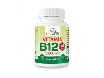 Vitamín B12 1000 mcg 90 tbl. Dr. Natural