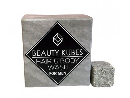 Tuhý šampon a sprchový gel pro muže Beauty Kubes úvodní foto
