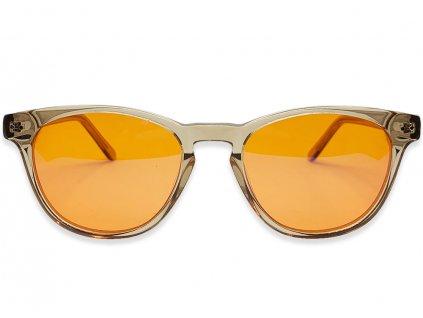 Brýle proti modrému světlu Derek černá oranžová skla přední strana