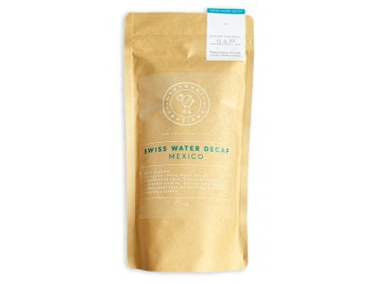 Swiss water decaf Mexico zrnková káva putovní pražírna 250g