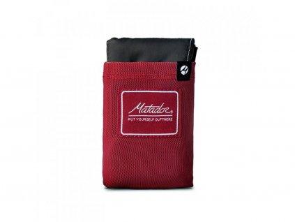 Matador vrecková deka Pocket Blanket 3 ciervena