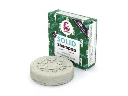Lamazuna tuhý šampon pro mastné vlasy se zeleným jílem a spirulinou 70g