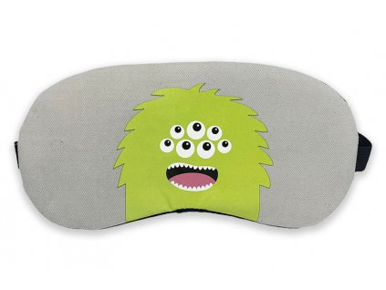 Maska na oči na spaní příšerka zelená