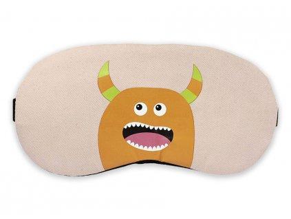 Maska na oči na spaní příšerka oranžová